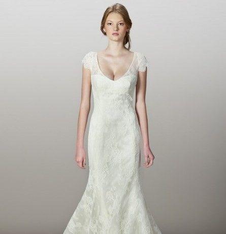 Liancarlo bridal gown by designer Carlos Ramirez.