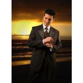 Brides and grooms just love our exclusive solid dark chocolate tux!