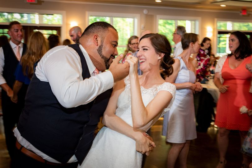 Dancing newlyweds