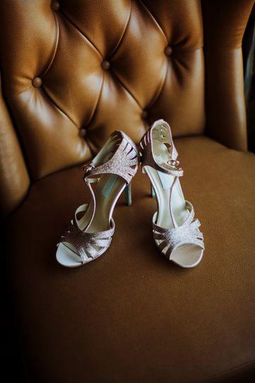 Shoes that sparkle.