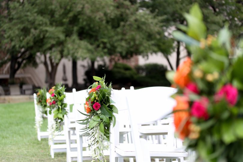 The gardens are a beautiful ceremony option