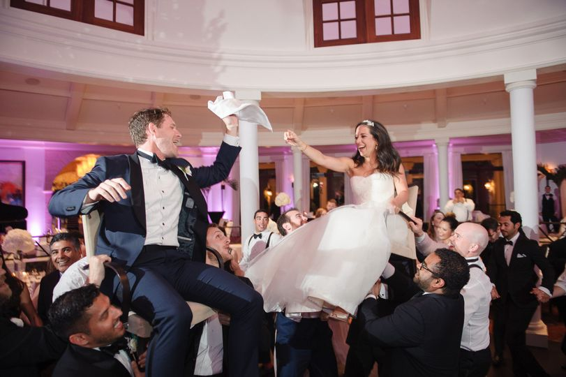 Lifting the newlyweds