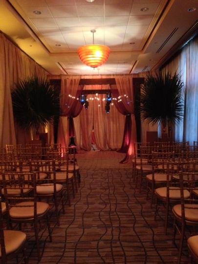 Simple wedding ceremony setup