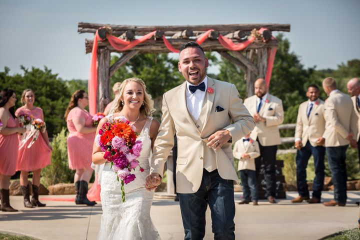 Tara & Jesse closing out their Texas summer ceremony at the gorgeous Diamond H3 Ranch in...