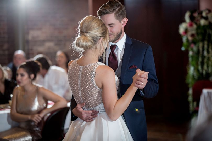 First dance memories captured with beautiful lighting for Murphey & Kyle.