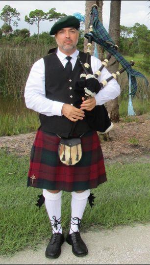 Scottish kilt attire