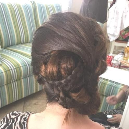 Neat braided updo