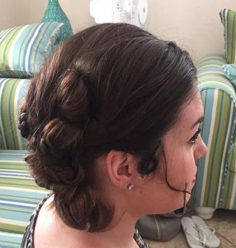 Complicated wedding updo