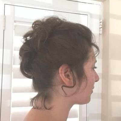 Slightly messy updo