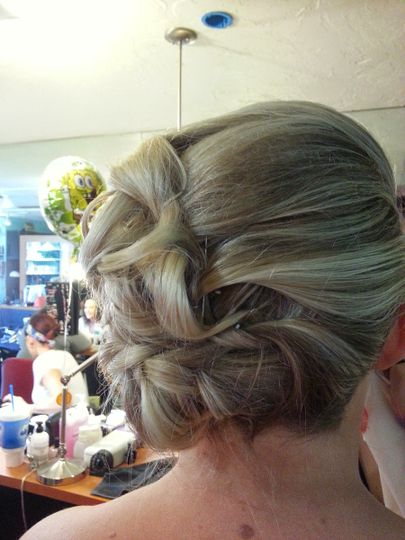 Lovely wedding updo