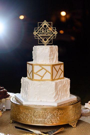 Rustic Geometric Wedding Cake