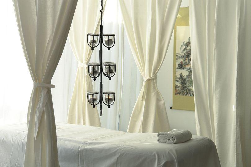 Santorini Zen Spa massage area