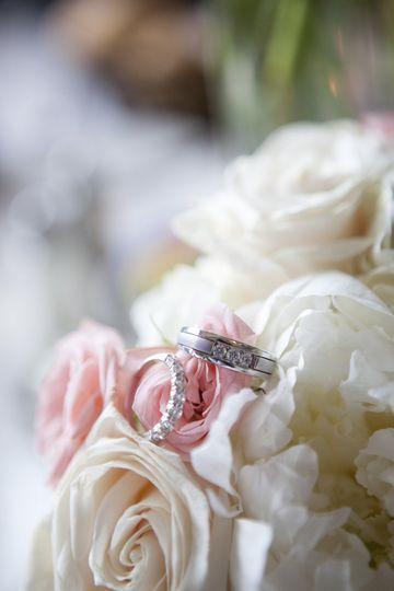 Still life ring, flower detail