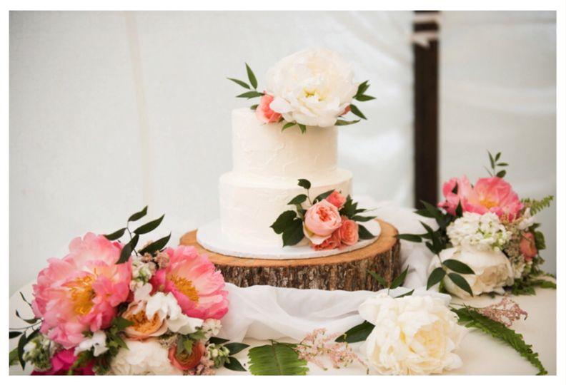 2 tier funfetti cake
