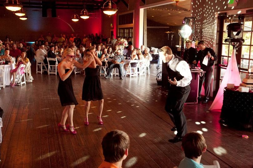 At the dance floor