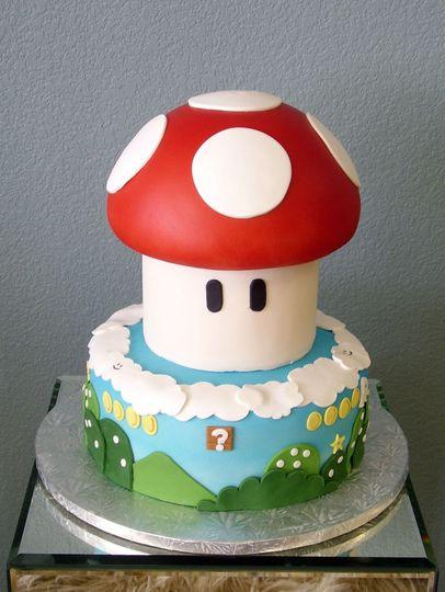 Mario cart inspired cake