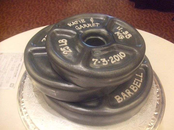 Tmx 1376630322845 Barbell Cake Addison, TX wedding cake