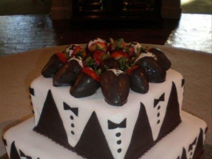 Tmx 1376630391825 Tuxedo Cake Addison, TX wedding cake