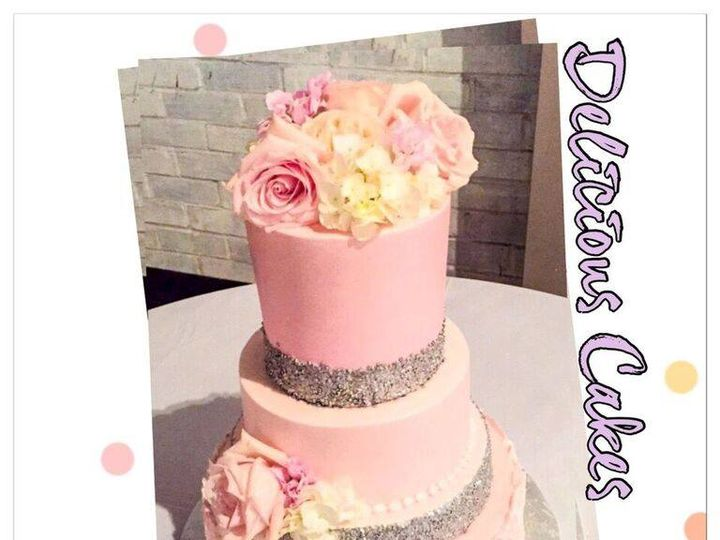 Tmx Pink Roses 2 51 47366 Addison, TX wedding cake
