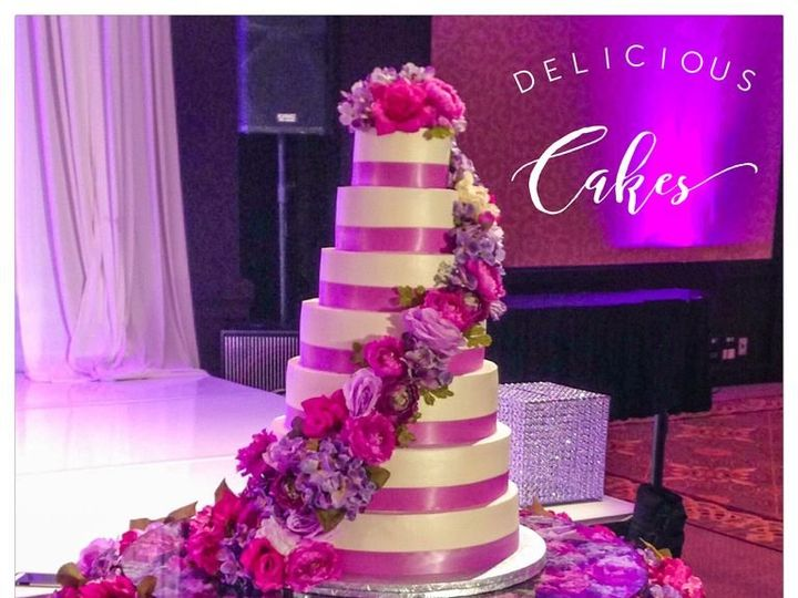 Tmx Purple2 51 47366 Addison, TX wedding cake