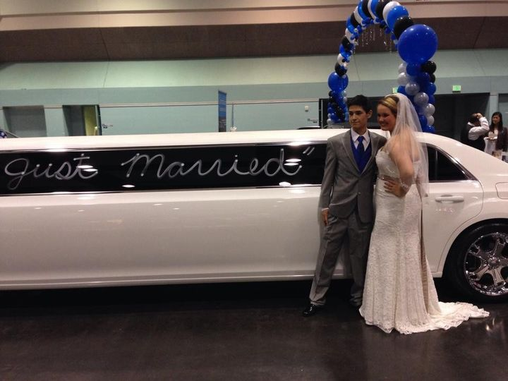 bride groom limo