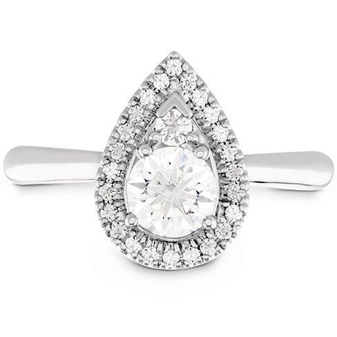 destiny teardrop shape halo engagement ring 1
