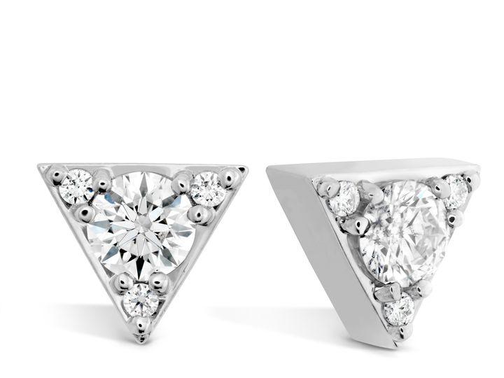 Tmx 1461425318437 Triplicity Triangle Studs Mount Joy wedding jewelry