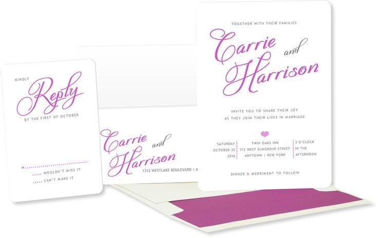 printed name wedding invitations