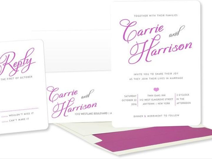Tmx 1429071500175 Printed Name Wedding Invitations Eastchester wedding invitation