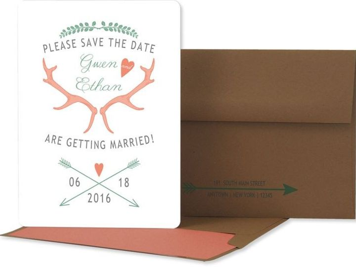 Tmx 1429071531858 Antler Save The Date Eastchester wedding invitation