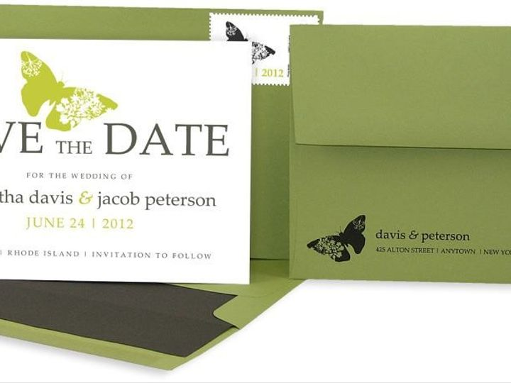 Tmx 1429071534799 Butterfly Save The Date2 Eastchester wedding invitation