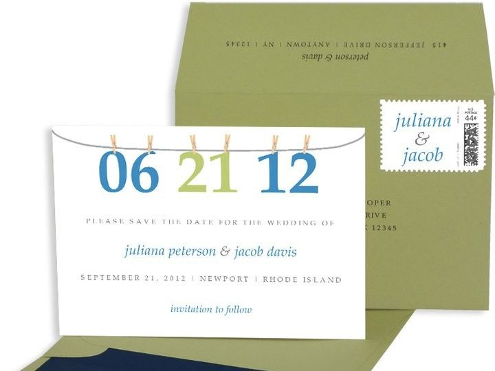 Tmx 1429071545445 Numbers Save The Date Eastchester wedding invitation