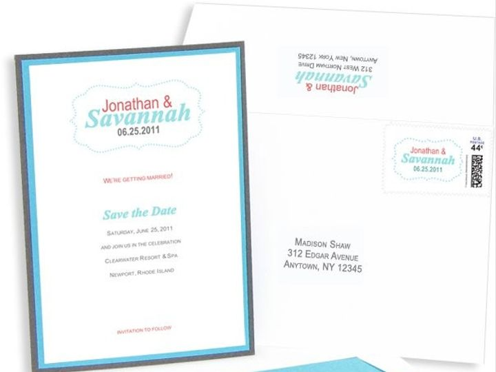 Tmx 1429071551586 Simple Save The Date Eastchester wedding invitation