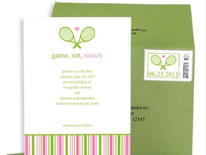 Tmx 1429071555057 Tennis Save The Date Eastchester wedding invitation