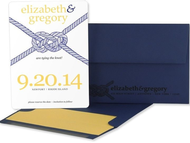 Tmx 1429071558128 Tie The Knot Save The Date Eastchester wedding invitation