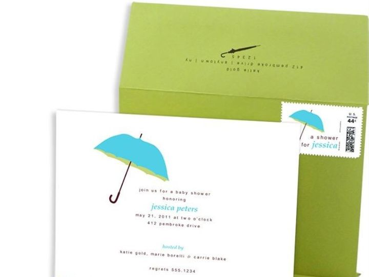Tmx 1429071838450 Umbrella Baby Shower Invitation Eastchester wedding invitation
