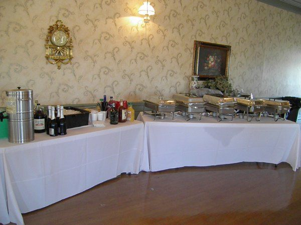 Table cloths are available for rent, banquet tables are provided.