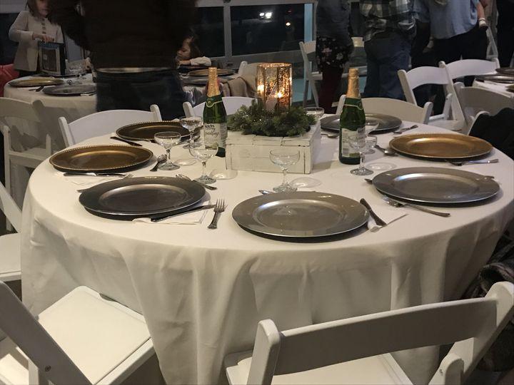 Winter wedding tablescape