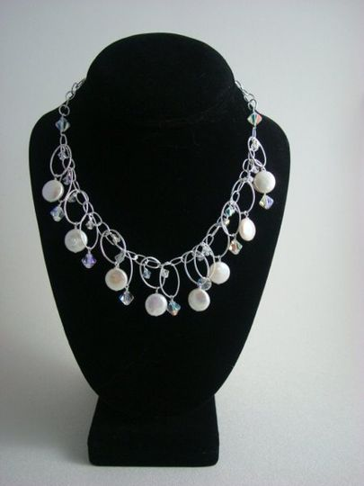 Coin pearls with swarovski crystals