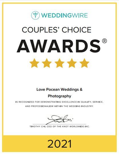 2021 Couple's Choice Award