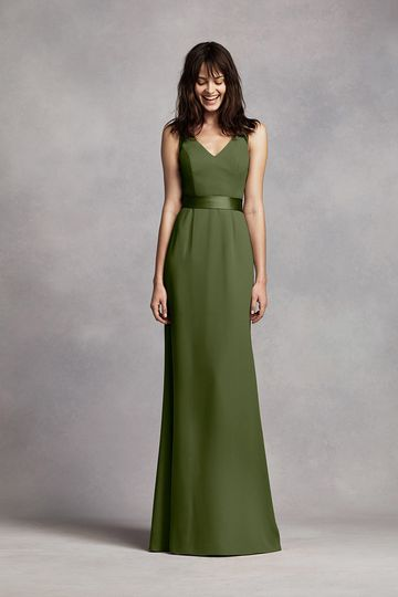 perfect for your wedding party or any special occasion!  Sleeveless V-neck wrapped bodice is...