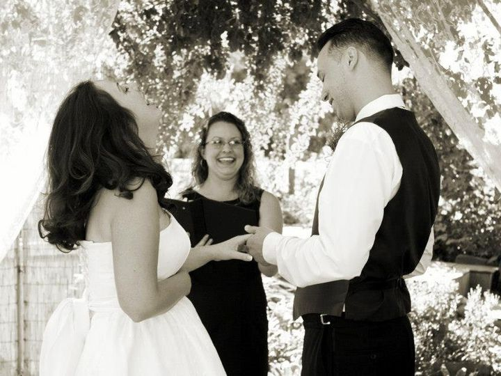 Tmx 1358788742019 AliandFaustinoCeremonyLaughter Woodland, California wedding officiant