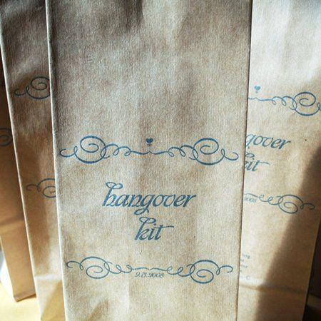 Amanda + Ben Favor Letterpress, One color, Vomit Bag