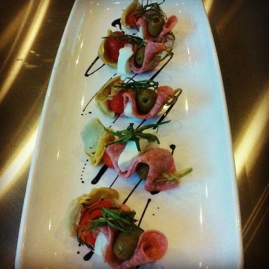 Antipasto Skewers Just one of our amazing passed hors d'oeuvres included in every wedding menu!