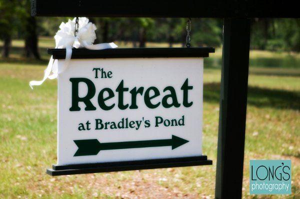 Retreat signage