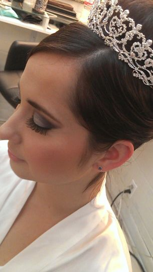 Updo with crown