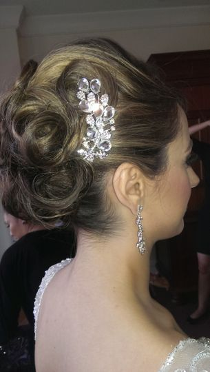 Updo with silver accessory