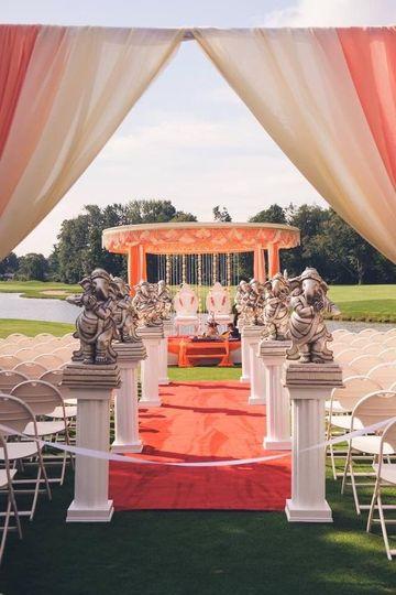 Outdoor ceremony setup