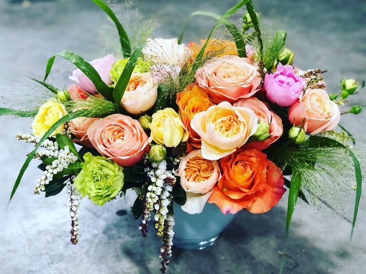 Orange color centerpiece