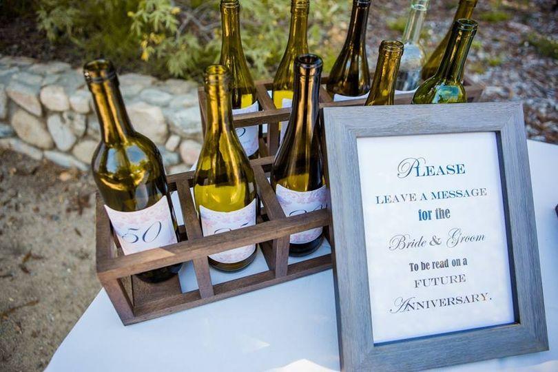 wine bottle anniversary note